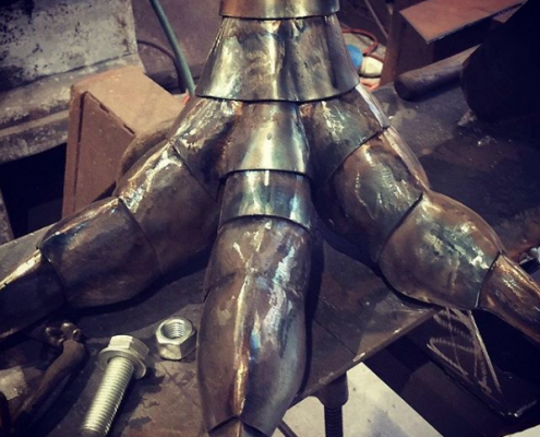 steel bird feet look like dinosaur feet | Made by Thrussells