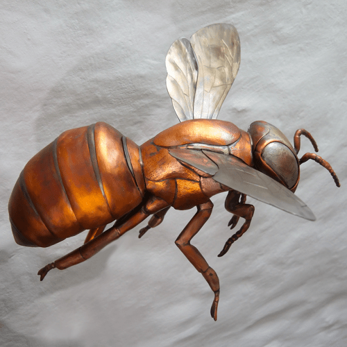 Copper Bee sculpture. Made by Thrussells