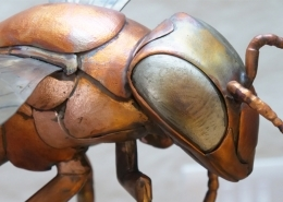 Copper Bee head and shoulders. Made by Thrussells