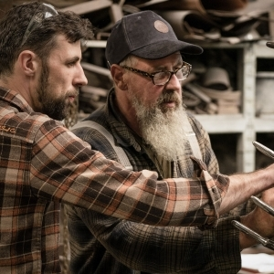 Gary and Thomas Thrussell in the creative process