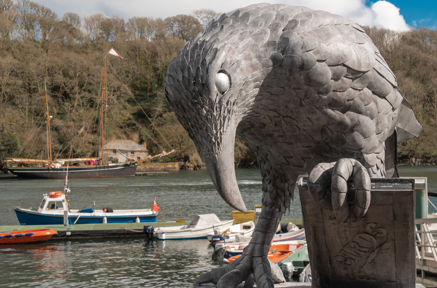 Rook With A Book - Thrussells. Public Art Cornwall