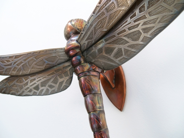 copper dragonfly sculpture by thrussells