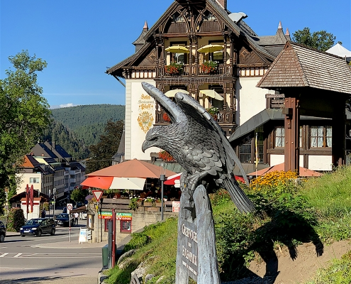 Triberg Eagle. Thrussells of Cornwall. Public Art Germany
