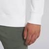 White sweatshirt up close with Thrussells blue bird